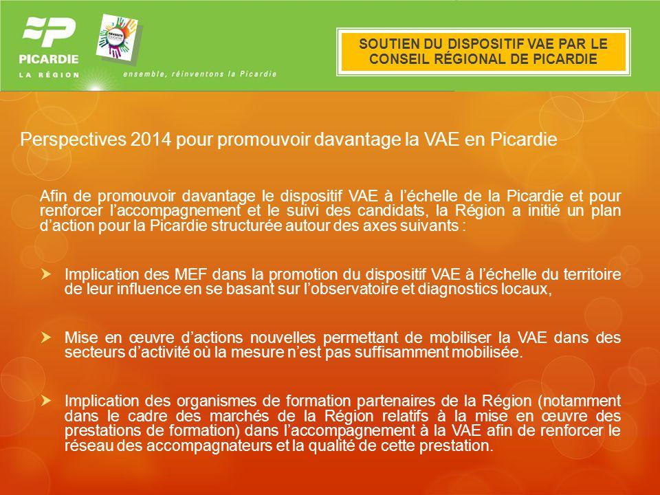 Perspectives 2014 pour promouvoir davantage la VAE en Picardie