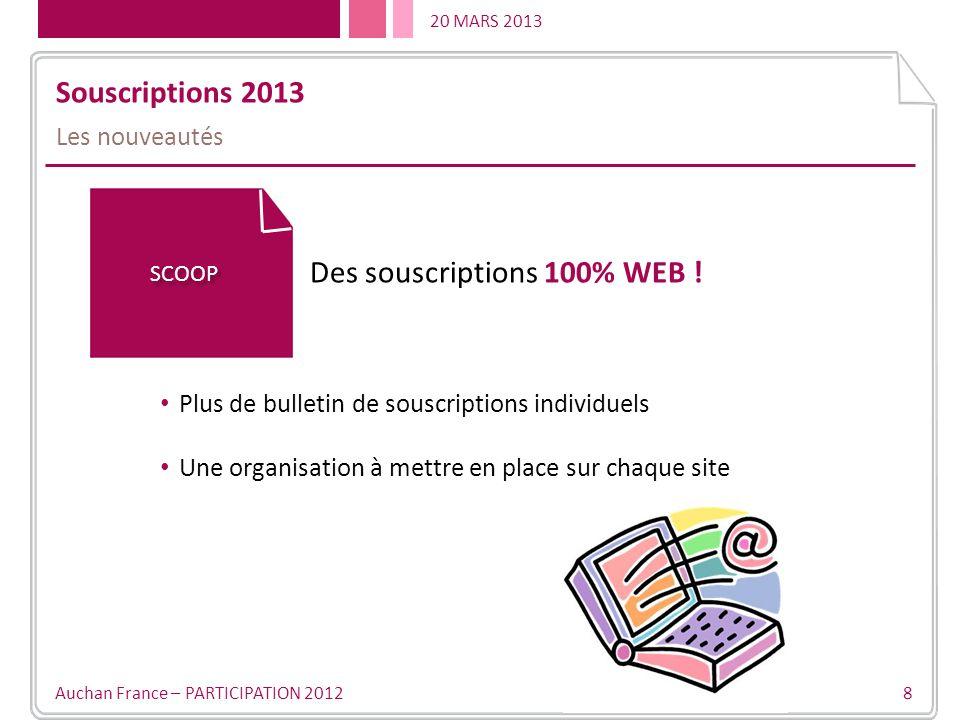 Des souscriptions 100% WEB !