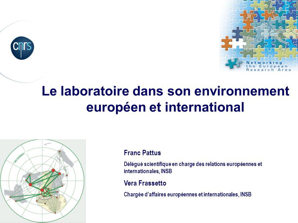 Le laboratoire dans son environnement européen et international