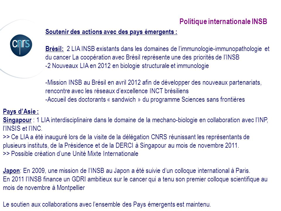 Politique internationale INSB