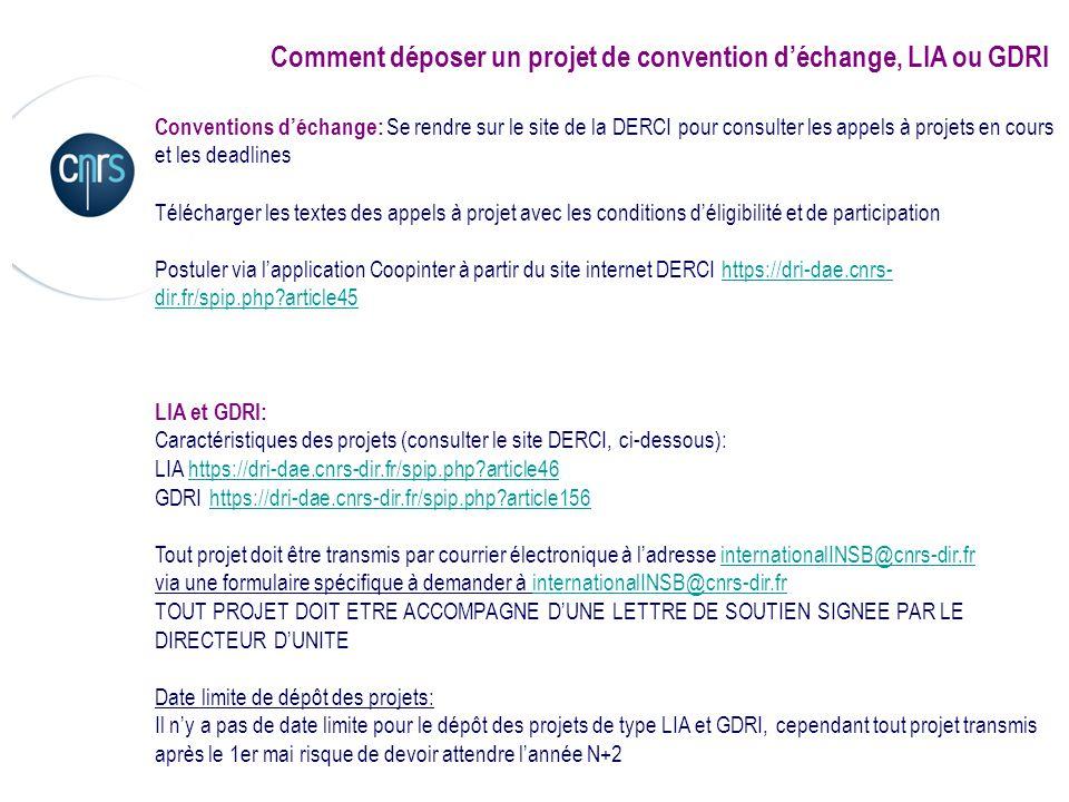 Comment déposer un projet de convention d'échange, LIA ou GDRI