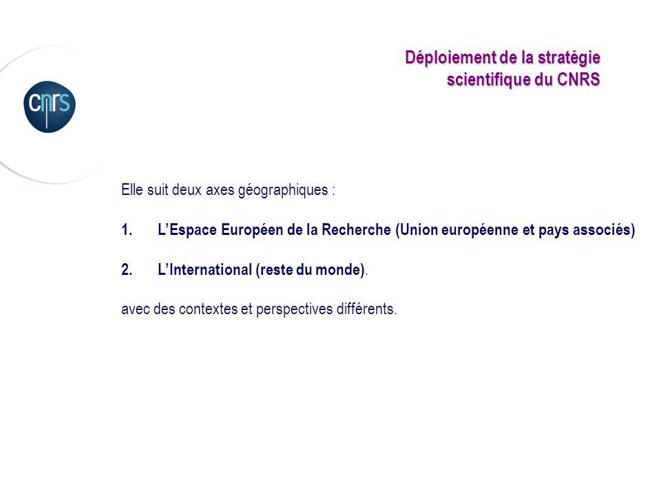 Déploiement de la stratégie scientifique du CNRS