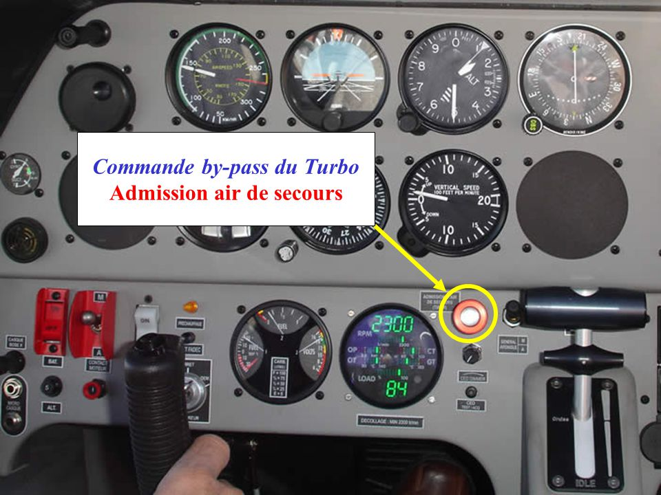 Commande by-pass du Turbo Admission air de secours