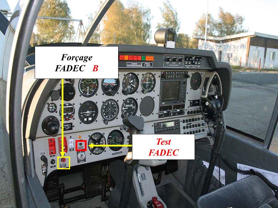 Forçage FADEC B Test FADEC