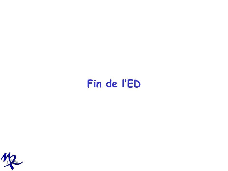 Fin de l'ED