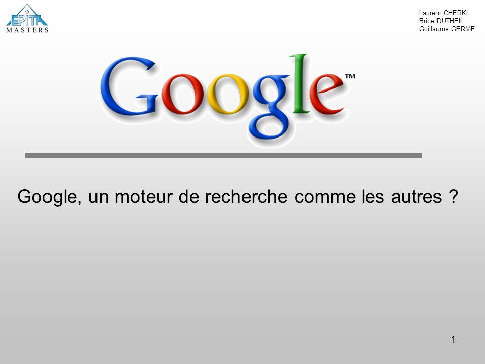 Google, un moteur de recherche comme les autres