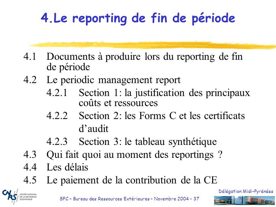 4.Le reporting de fin de période