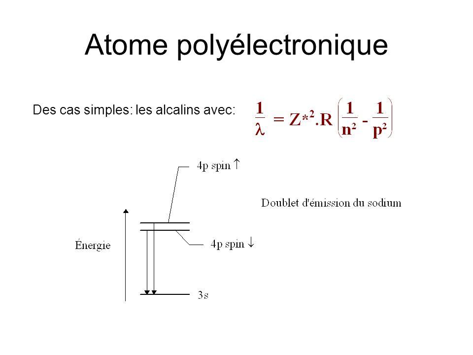 Atome polyélectronique
