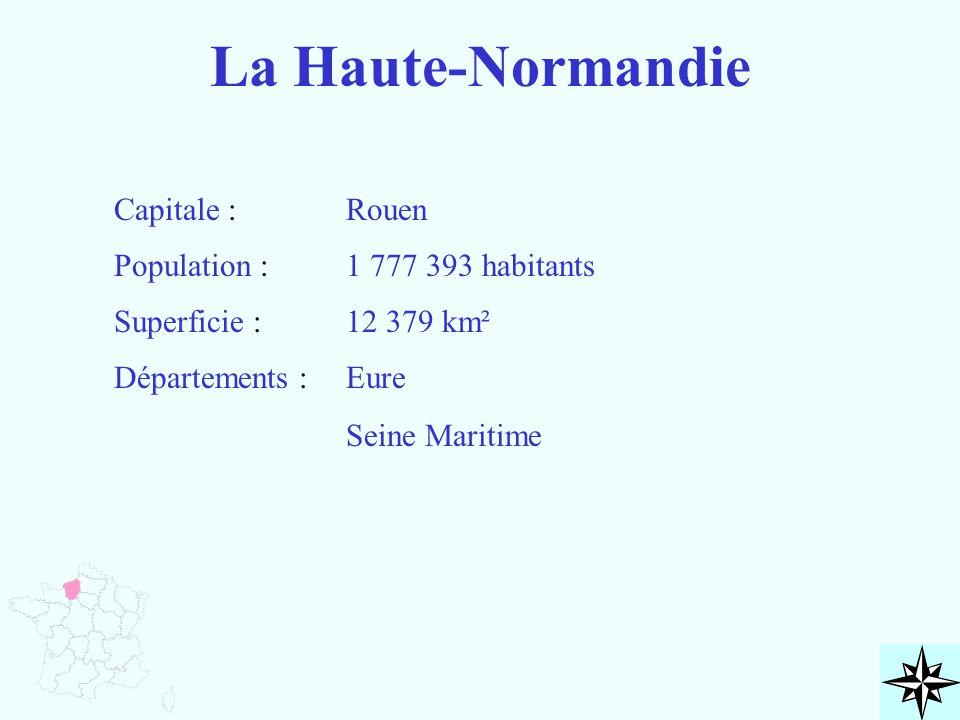 La Haute-Normandie Capitale : Rouen Population : 1 777 393 habitants