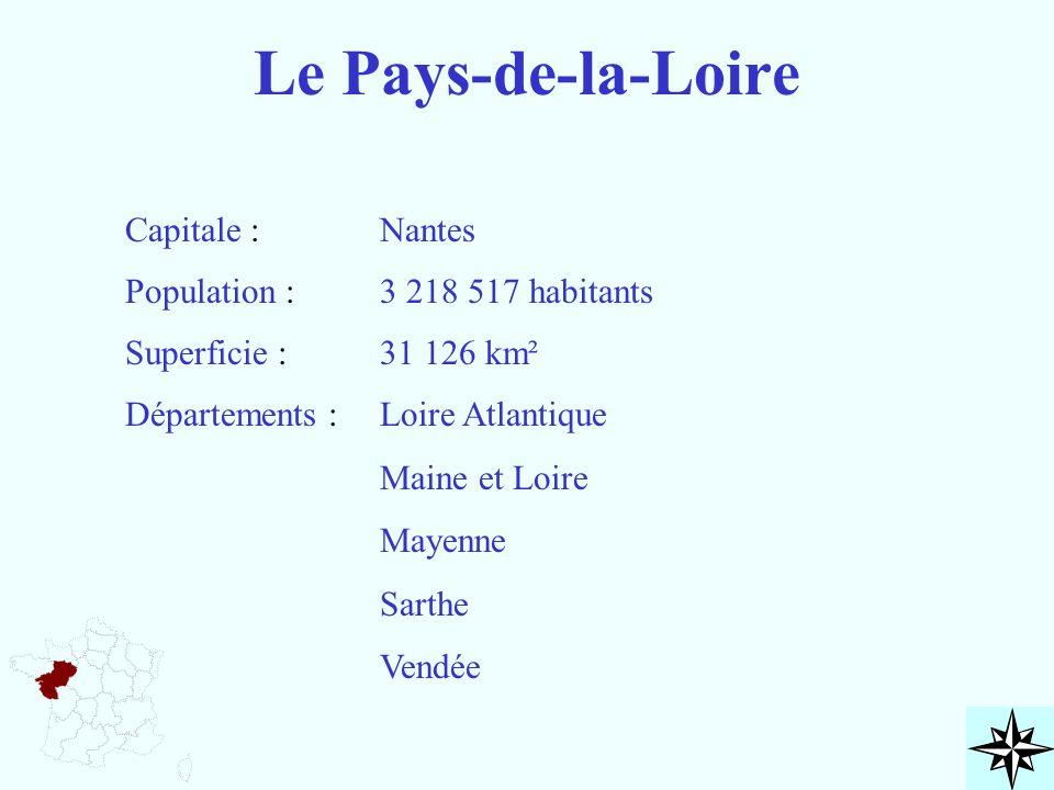 Le Pays-de-la-Loire Capitale : Nantes Population : 3 218 517 habitants