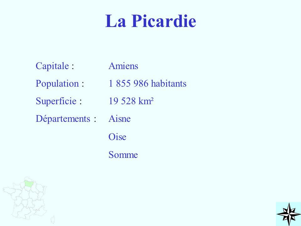 La Picardie Capitale : Amiens Population : 1 855 986 habitants