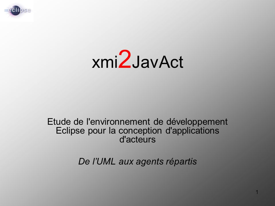 De l'UML aux agents répartis