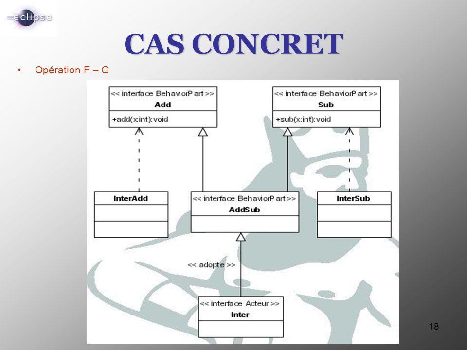 CAS CONCRET Opération F – G