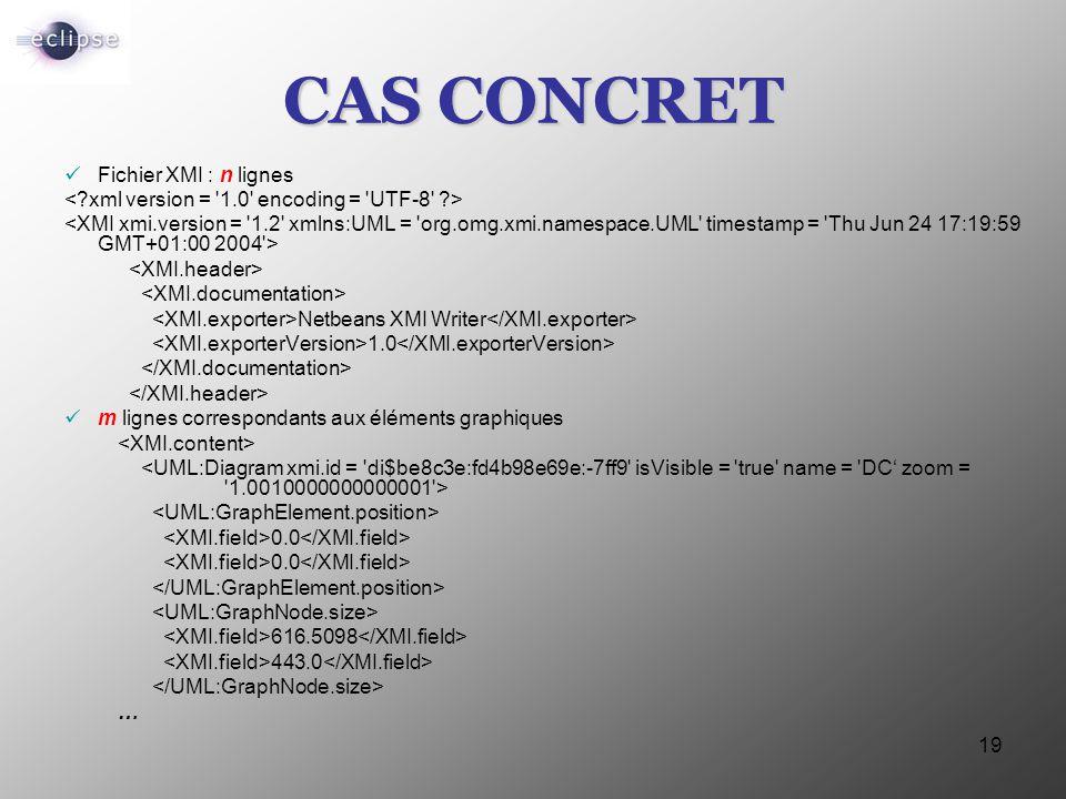 CAS CONCRET Fichier XMI : n lignes