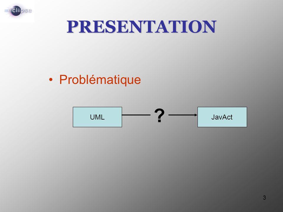 PRESENTATION Problématique UML JavAct