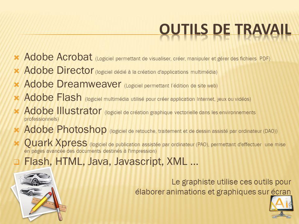 Outils de Travail Adobe Acrobat (Logiciel permettant de visualiser, créer, manipuler et gérer des fichiers PDF)