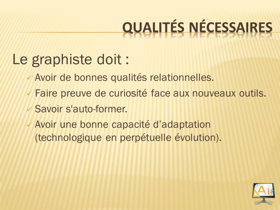 Qualités nécessaires Le graphiste doit :