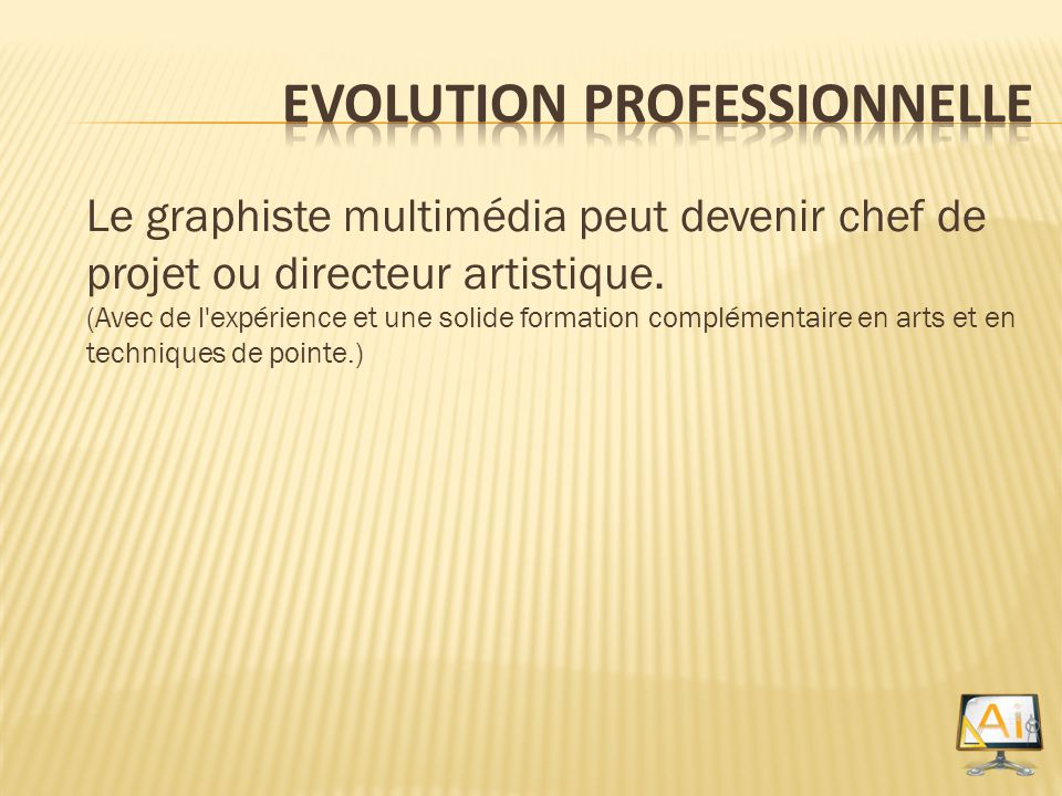 Evolution Professionnelle