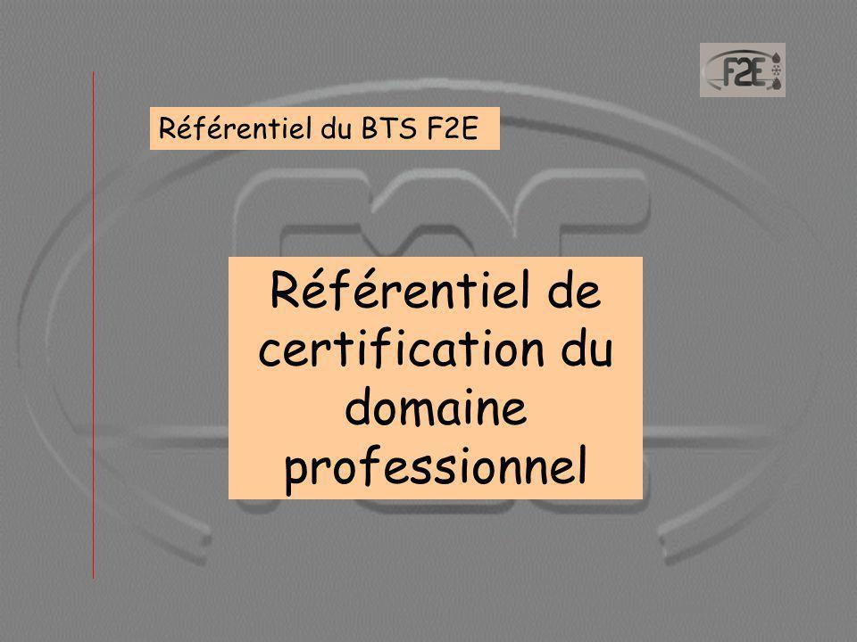 Référentiel de certification du domaine professionnel
