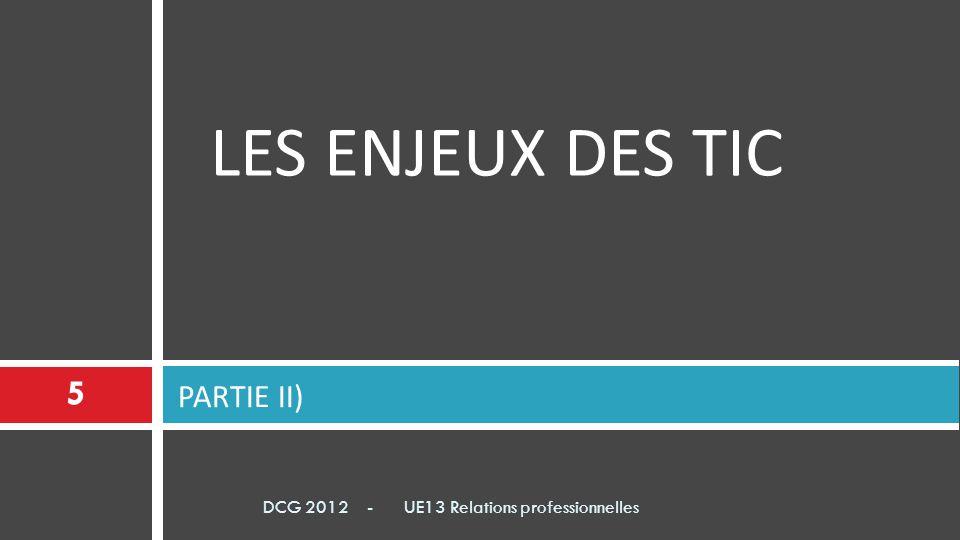 LES ENJEUX DES TIC PARTIE II)