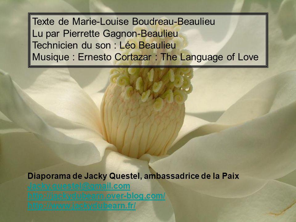 Texte de Marie-Louise Boudreau-Beaulieu