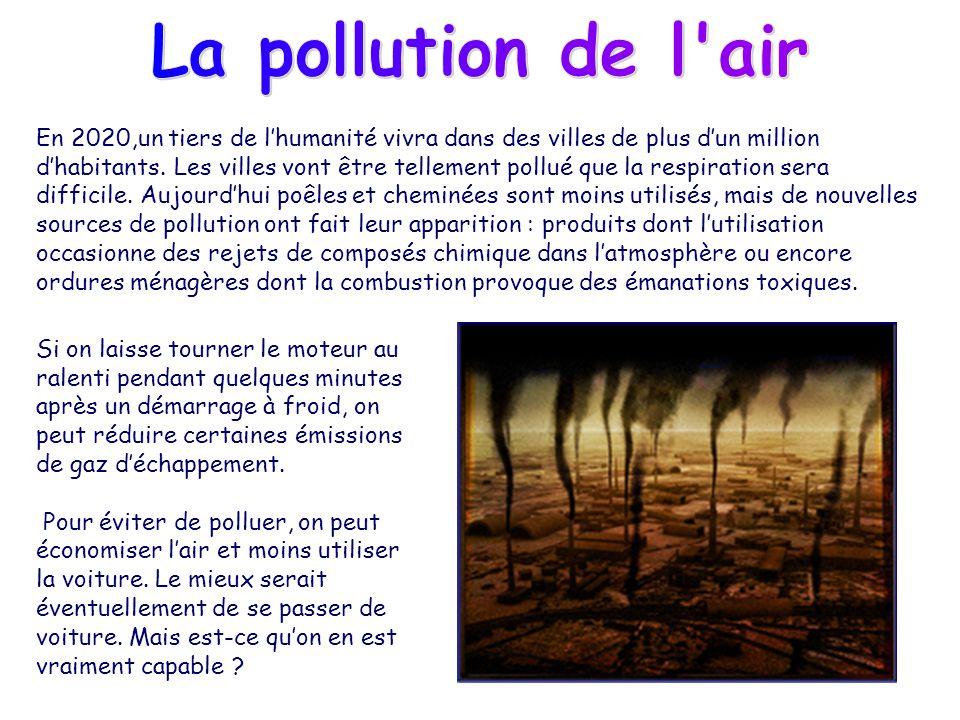 La pollution de l air