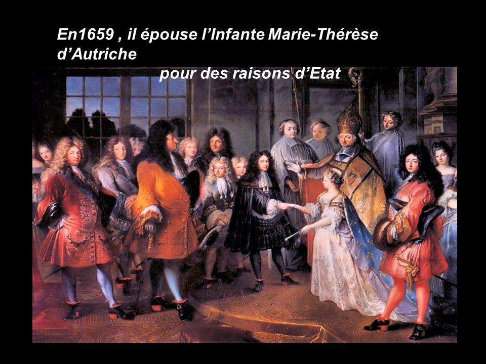 En1659 , il épouse l'Infante Marie-Thérèse d'Autriche