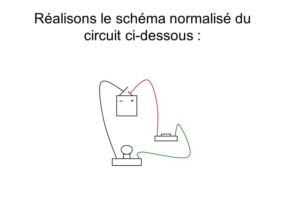 Réalisons le schéma normalisé du circuit ci-dessous :