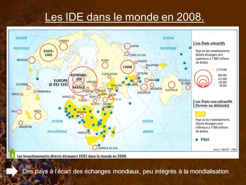 Les IDE dans le monde en 2008.