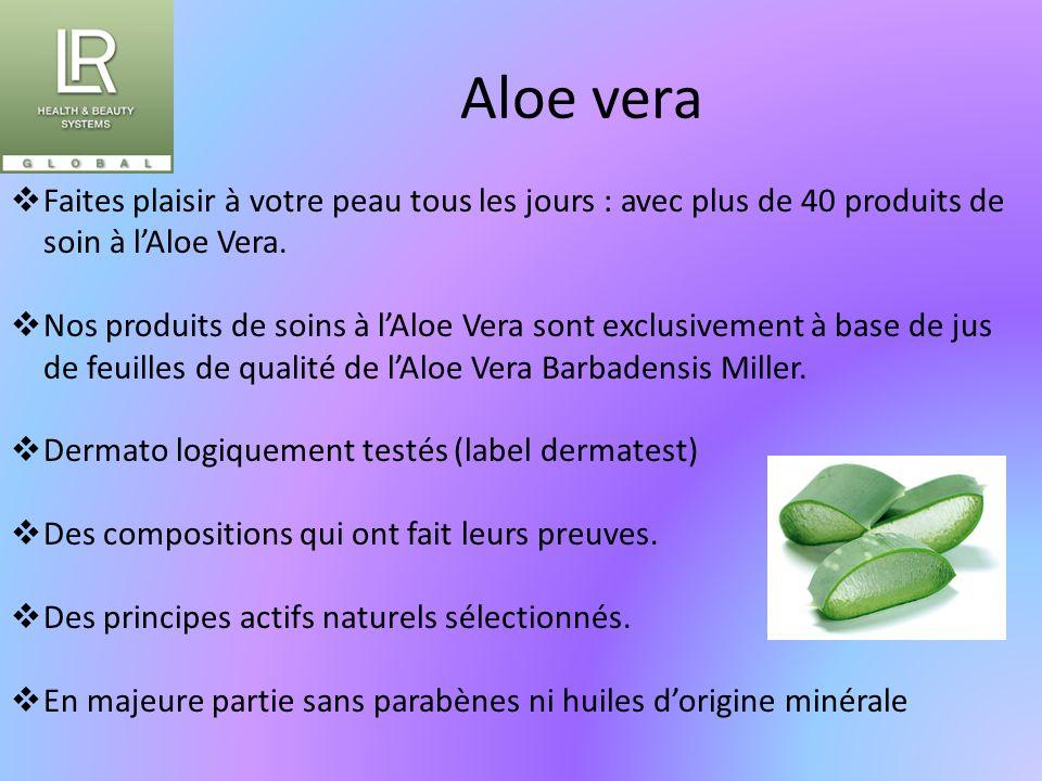 Aloe vera Faites plaisir à votre peau tous les jours : avec plus de 40 produits de soin à l'Aloe Vera.