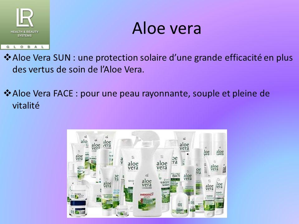 Aloe vera Aloe Vera SUN : une protection solaire d'une grande efficacité en plus des vertus de soin de l'Aloe Vera.