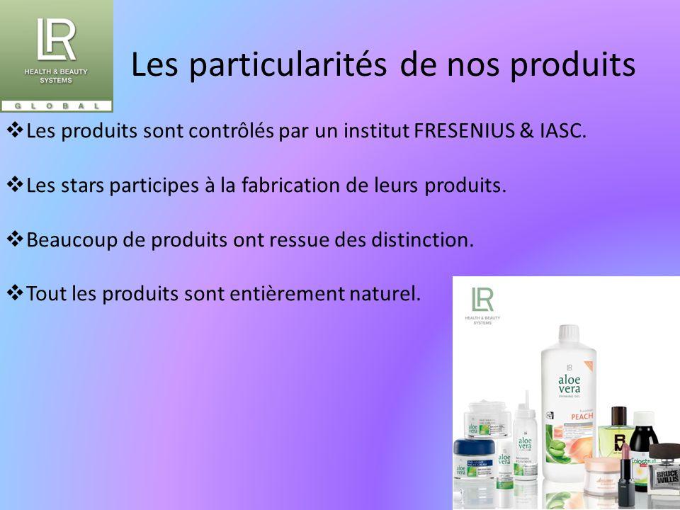 Les particularités de nos produits