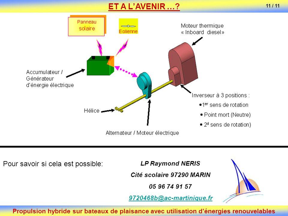 ET A L'AVENIR … Pour savoir si cela est possible: LP Raymond NERIS