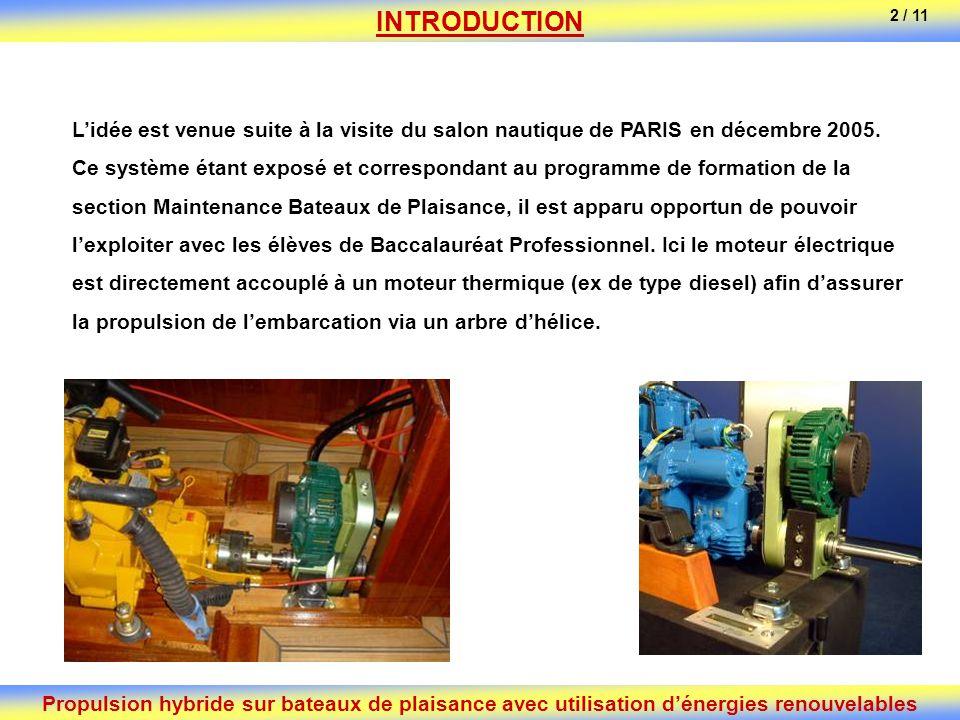 INTRODUCTION 2 / 11. L'idée est venue suite à la visite du salon nautique de PARIS en décembre 2005.