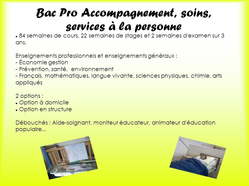 Bac Pro Accompagnement, soins, services à la personne