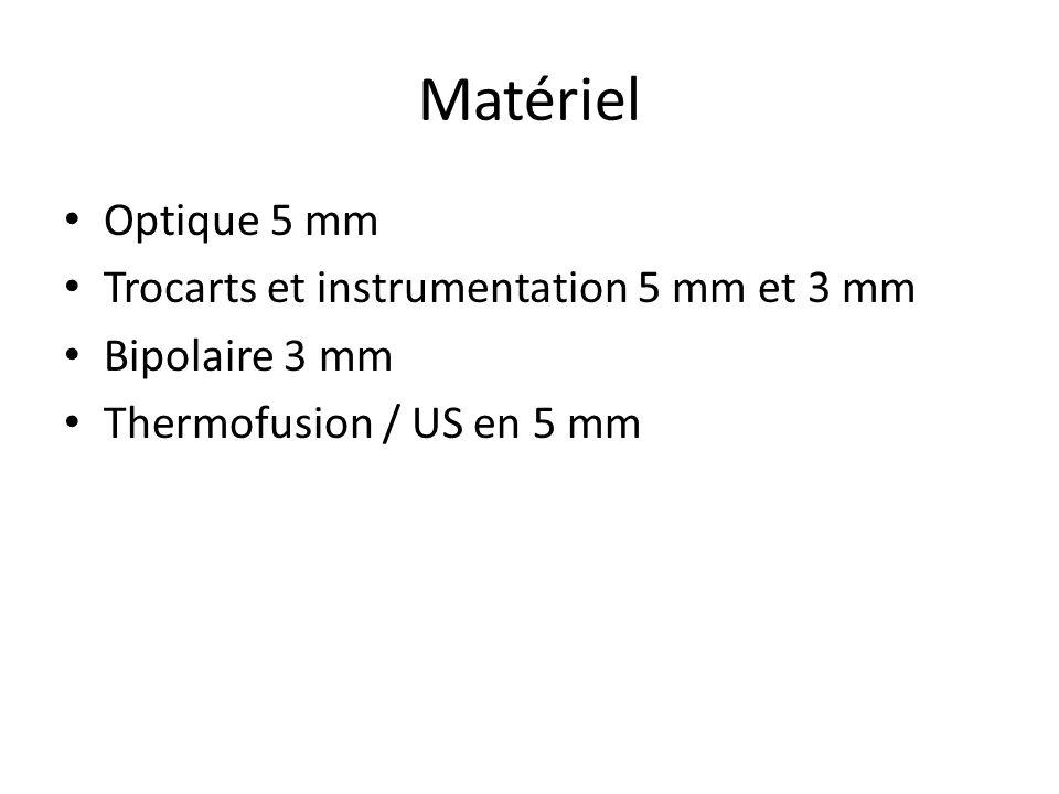 Matériel Optique 5 mm Trocarts et instrumentation 5 mm et 3 mm