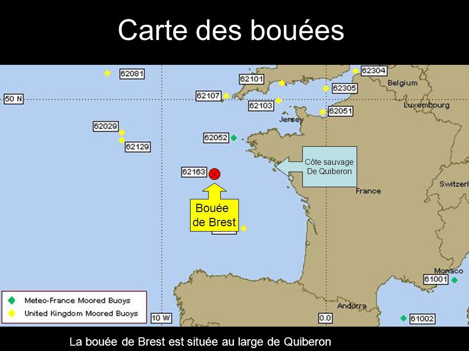 Carte des bouées Bouée de Brest