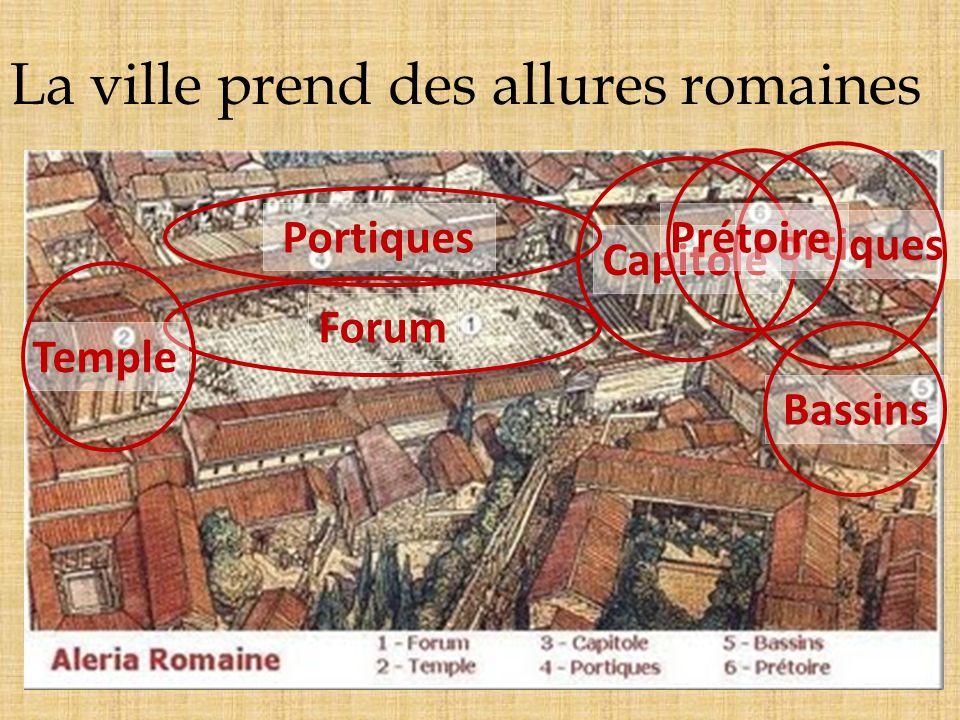 La ville prend des allures romaines