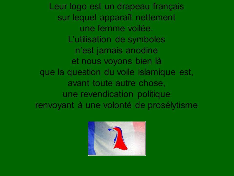 Leur logo est un drapeau français sur lequel apparaît nettement