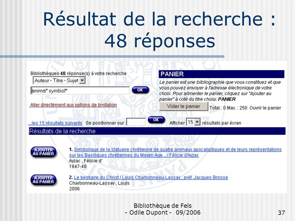 Résultat de la recherche : 48 réponses