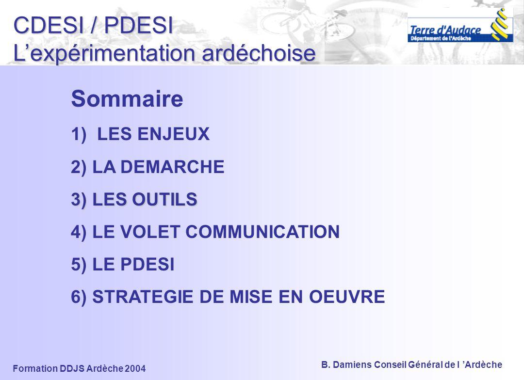 CDESI / PDESI L'expérimentation ardéchoise