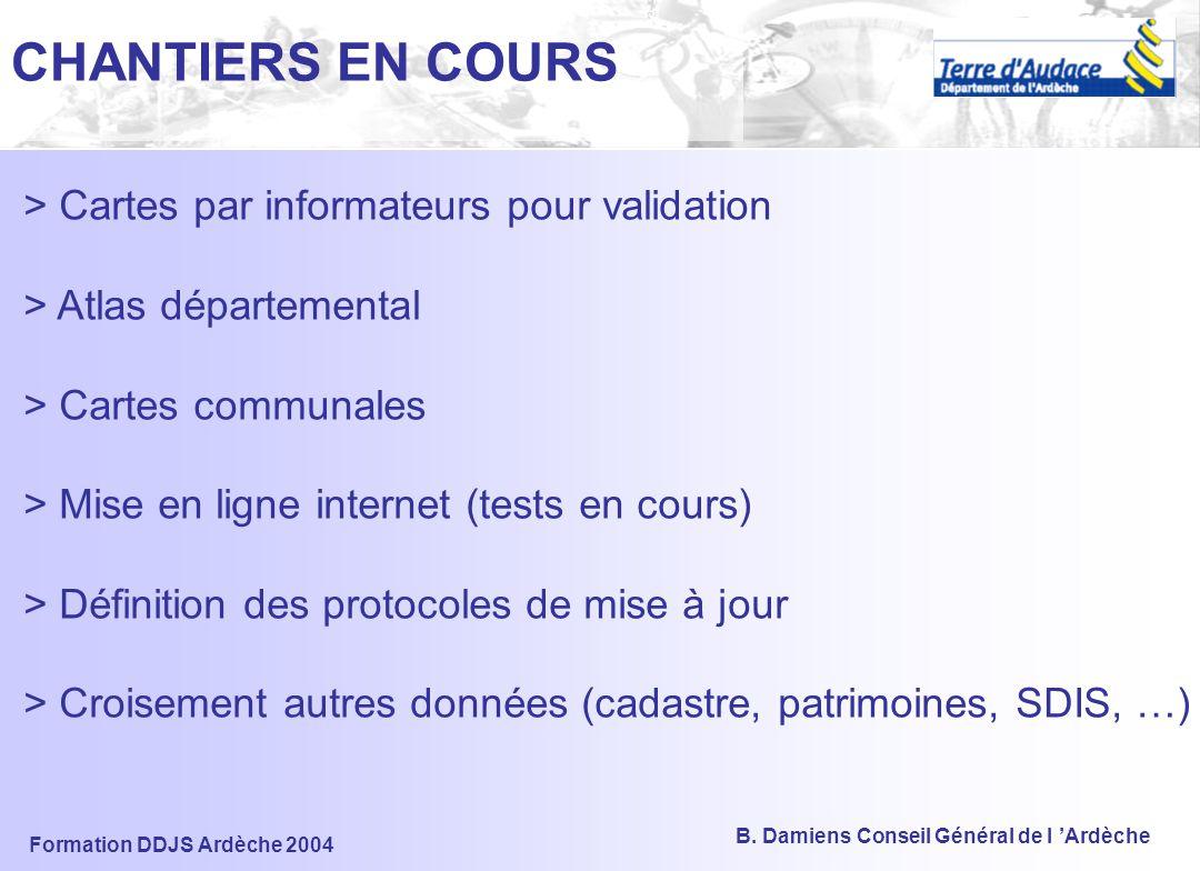 CHANTIERS EN COURS > Cartes par informateurs pour validation