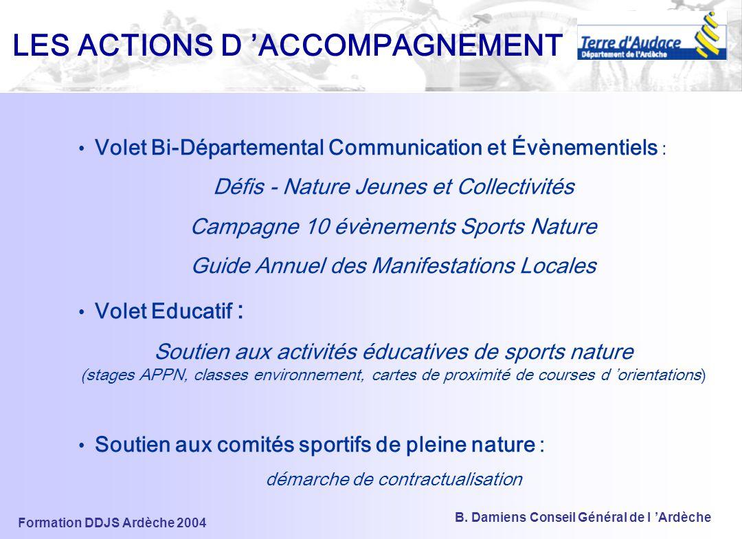 LES ACTIONS D 'ACCOMPAGNEMENT