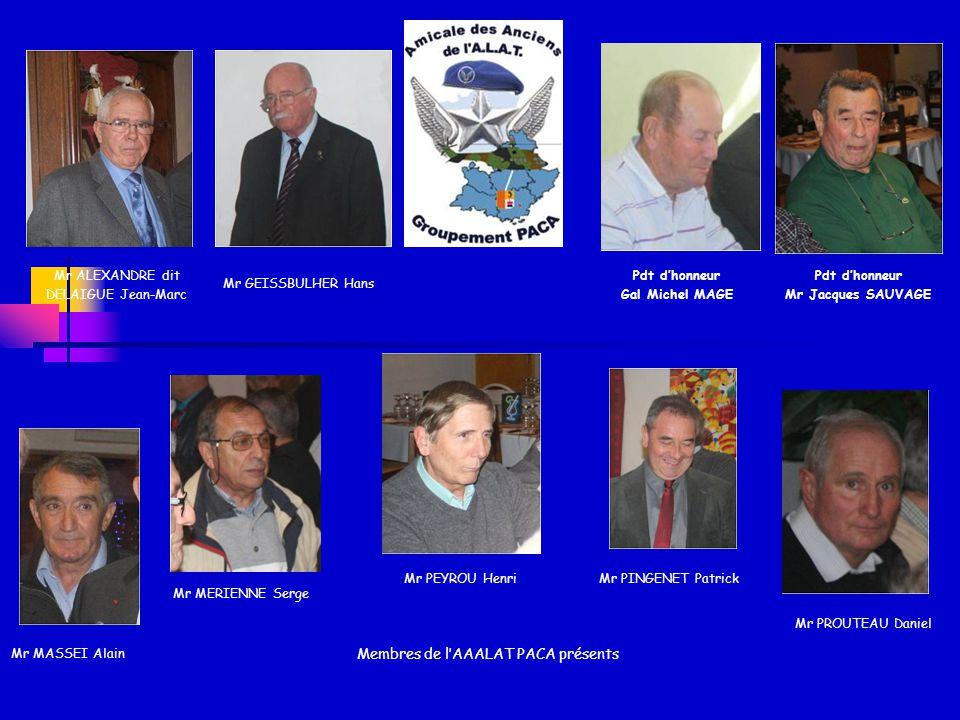 Membres de l'AAALAT PACA présents