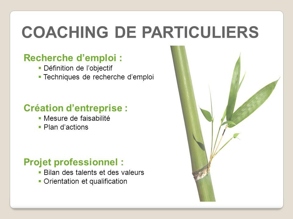 COACHING DE PARTICULIERS