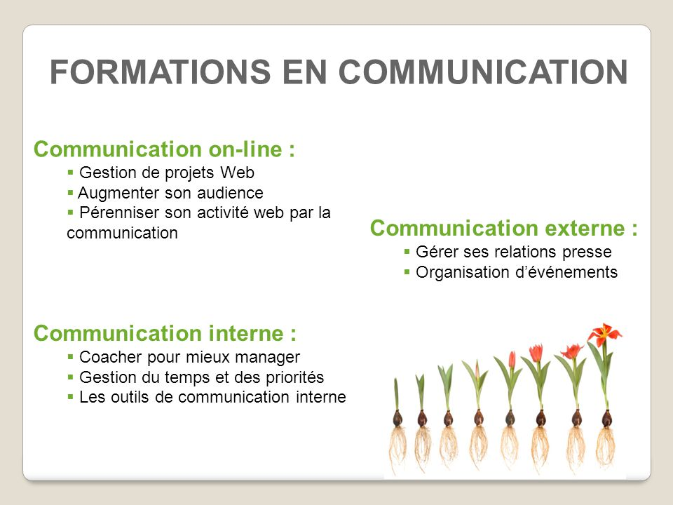 FORMATIONS EN COMMUNICATION