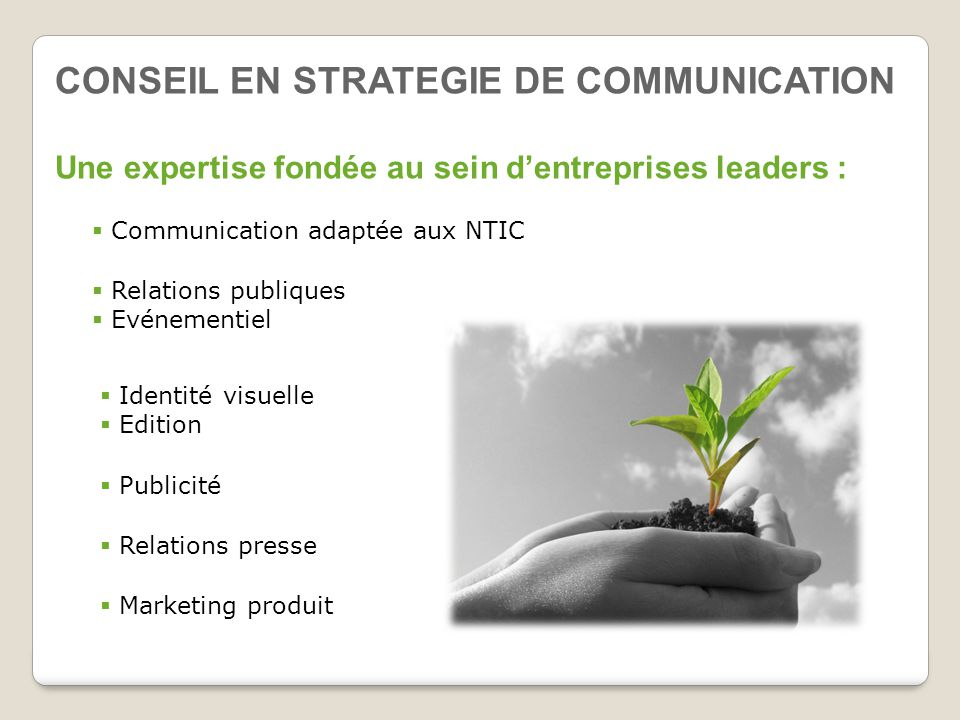 CONSEIL EN STRATEGIE DE COMMUNICATION