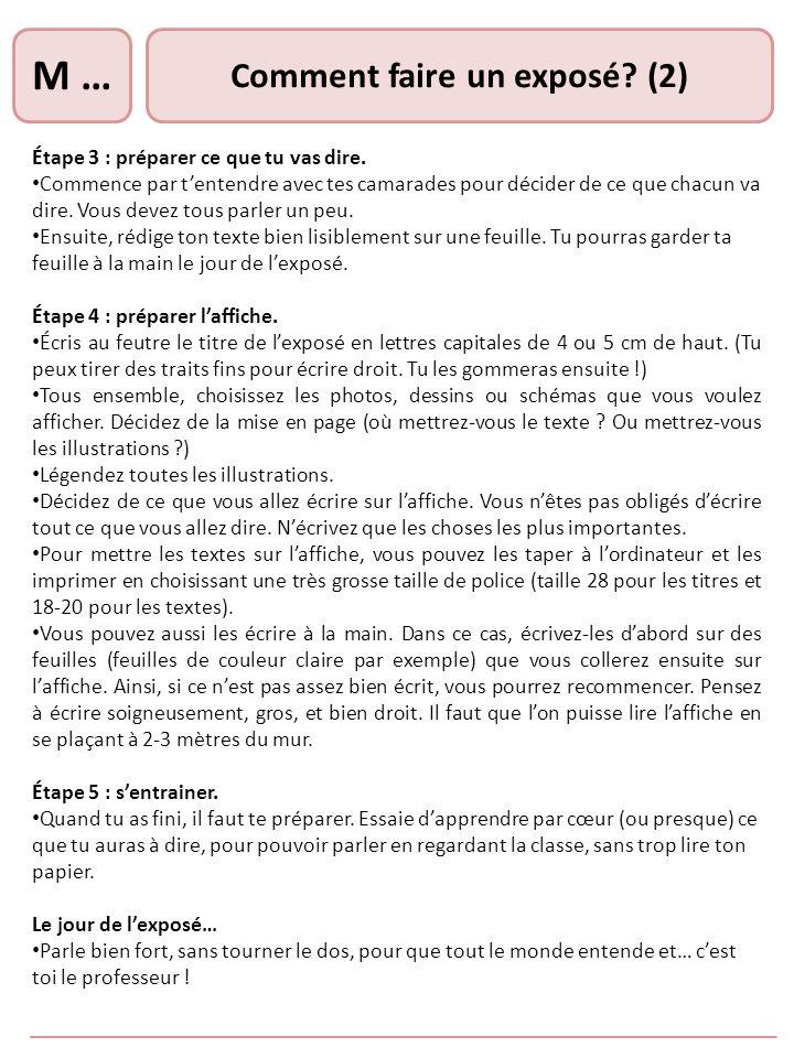 Comment faire un exposé (2)
