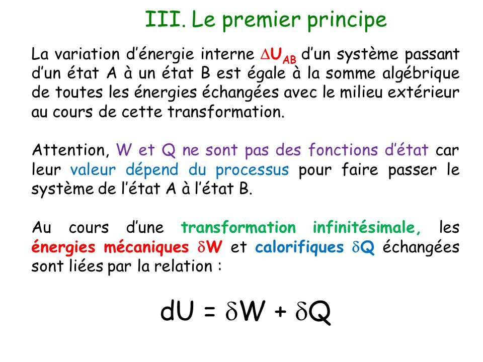III. Le premier principe