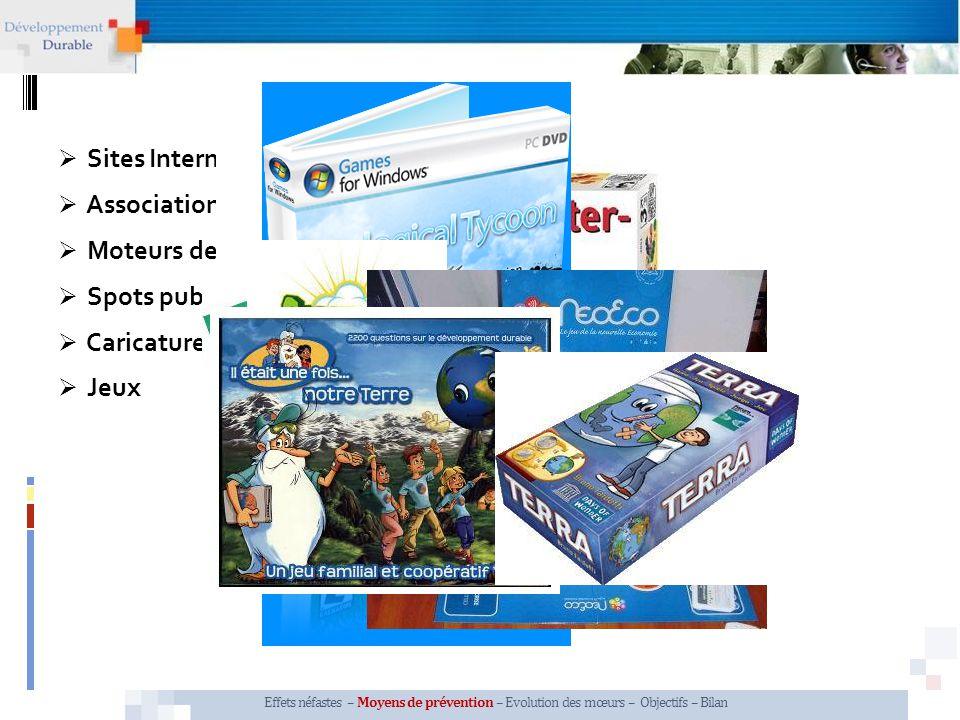 Associations, organismes Moteurs de recherche Spots publicitaires